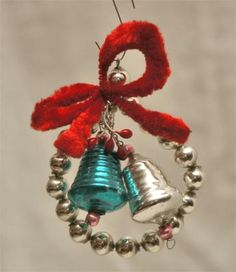 Cute vintage glass bell ornament