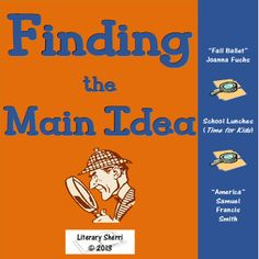 "An engaging mini-lesson on ""Finding the Main Idea"" designed to be used in 6-8 ELA, Reading AIS, Tutoring, or Special Education classes. This lesson prompts close reading of informational passages and gives students strategies to help them determine the main idea of nonfiction texts.  #findingthemainidea #middleschoolela"