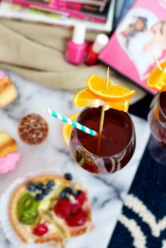 tropical tiki tinis [+ a girls night in] with pinnacle vodka  The star of the tropical tiki-tini? Pinnacle's Tropical Punch Vodka, one of their 40 yummy flavors (and one that happens to go well with literally anything).