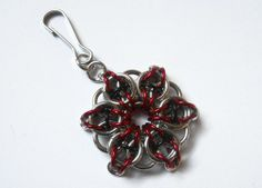 Zipper pull Chainmaille star Celtic Visions star by DoBatsEatCats, $10.00