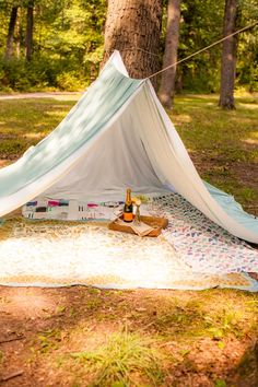 For the fact that she loves camping, if she wants a camp themed wedding, she can have one