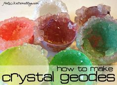 How to Grow Your Own Crystal Geodes - You can do any color, even use plastic eggs for a different look.