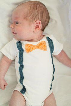 Bow Tie and Suspenders Onsie