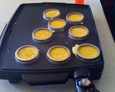 english muffins, canning jars, cooking spray, breakfast sandwiches, recip, egg, mason jars, biscuit, jar lids