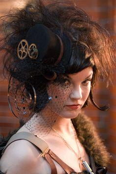 Gloriously huge hair #Steampunk #Gothic #Fashion