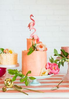 Beautiful cakes for a bridal shower