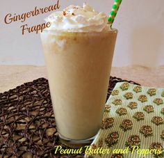 Skinny Gingerbread Frappe - .A creamy, slightly spicy frozen drink that tastes like Gingerbread Cookies.
