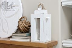 DIY Lantern -how to make a lantern. All you need are scrap pieces of wood and an hour of your time!