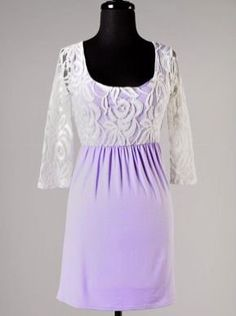 Lavender and Lace 3/4 Sleeve Dress - $29.99 : FashionCupcake, Designer Clothing, Accessories, and Gifts