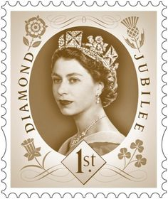 Queens Diamond Jubilee Stamp