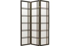 Black Geometric 3 Panel Room Divider