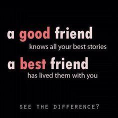Best friends/good friends