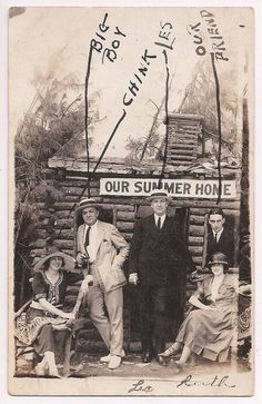 """Hot Springs National Park Arkansas """"Our Summer Home"""" real photo postcard from the 1920's"""