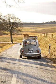 Grey VW Beetle.