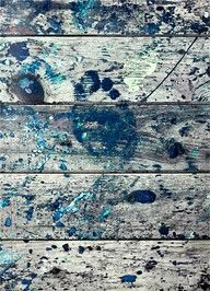 Jackson Pollock's studio floor