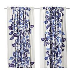 IKEA STOCKHOLM BLAD Curtains, 1 pair IKEA Heavy material that minimizes sunlight and reduces outside noise.