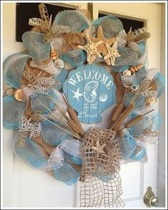 """""""Welcome to the Beach"""" Wreath"""