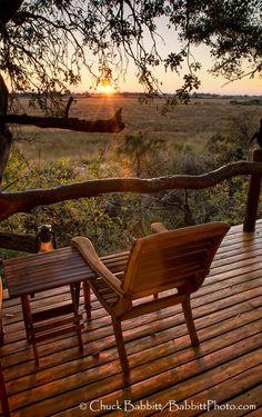 dawn at Kwetsani Camp, Jao Reserve, Okavango Delta, Botswana