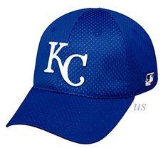 MLB Mesh Flexfit Kansas City Royals Home Hat Cap Stretch Fitted (S/M)