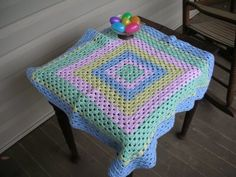 lines... in pleasant places: Baby blanket - crocheted using odds and ends of yarn