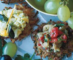 From Epicurious: Zucchini Latkes