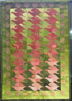 """Tessellation quilt:  """"Flight For Joy"""" by Elizabeth McDowell Heagy. 2nd place, original interpreted traditional wall quilt.  2014 National Juried Show ~ Canadian Quilters' Association"""