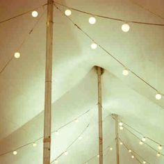 Poled tent minus fabric draping