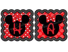 Custom DIY Printable Minnie Mouse Banner. $12.00, via Etsy.
