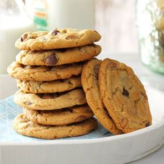 Chippy Peanut Butter Cookies Recipe from Taste of Home -- shared by Ian Badeer of Hickman, Nebraska