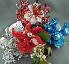 CIJ Christmas Corsage Destash Vintage chenille by OhSoEnchanting, $16.00