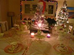 My Christmas Tea Party Table Setting