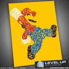 Sweet Mario poster.