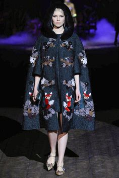 Dolce & Gabbana Winter 2015 Collection #MFW #AW14  #FashionWeek coat
