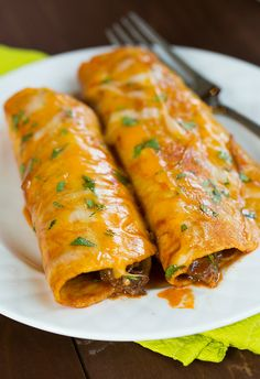 Cheesy zucchini enchiladas | Pretty yummy foods | Pinterest