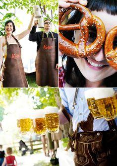 pretzel, engagement parties, beer garden wedding, bavaria, garden parties