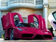 Ferrari Enzo - and look, it's in my favorite color - Rasberry Sherbert!