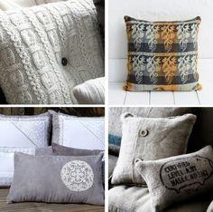 http://naturalmoderninteriors.blogspot.com.au/2013/08/recycled-fabric-cushion-ideas.html |  Recycled Fabric Cushion Ideas