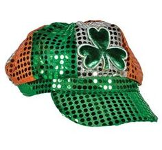 Private Island Party  - St Patricks Sequin Irish Shamrock Newsboy Cap 1413, $2.50 - $5.99    If your looking to really bring out the luck of the irish then our St. Patricks Sequin Shamroack Newsbot Cap is perfect for you. Don't get pinched this St. Patricks Day!