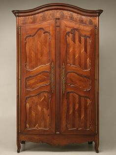 French Oystered Cherry Armoire