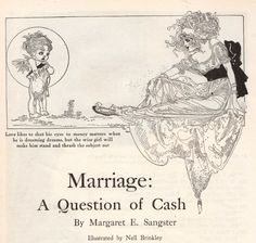 Marriage: a question of cash