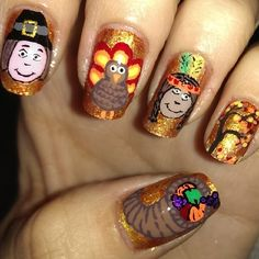 naildesign nailpolish, nail thanksgiv, thanksgiv nail, beauti nail, nail nailart, nailart naildesign, nail ideas, nail art, thanksgiving nails