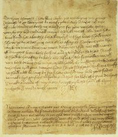 Letter from Henry VIII to Anne Boleyn
