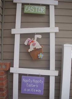 ladder set, holiday, easter ladder, woodcraft, craft easter, easter craft, wood crafts