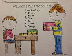 FREE Printables for back to school. Learn color words and number words.