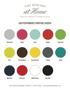 High Performance Spray Furniture Lacquer from Amy Howard home.  Love the colors.  Can't wait to try it.