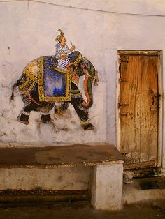 Elephant on the wall (detail), photograph by gustaffo89 on Flickr