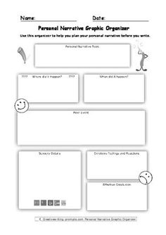 narrative essay writing graphic organizers