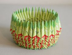 She makes great folded paper baskets!