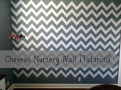 Chevron Nursery Wall {Tutorial}