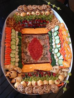 The Snackadium-- superbowl appetizer tray